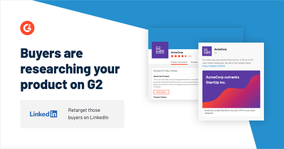 Marketers Can Now Retarget G2 Profile, Category or Competitor Visitors on LinkedIn with Matched Audiences Thumbnail